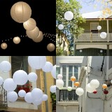 3PCS White Round Paper Lanterns Chinese Hanging Decorations Decorative Lanterns for Wedding Party Decorations