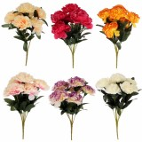 7 Heads Artificial Silk Carnation Flower Bouquet Home Party Wedding Room Decorations
