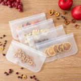 10Pcs Multifunction Home Reusable Silicone Food Storage Bags Food Grade Preservation Freezer Bags Ziplock Leakproof Fruits Vegetable Bag Kitchen Organizer Vacuum Sealing Bag