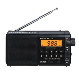 Panda T-02 Radio FM AM SW Full Band Radio Mini Portable Retro Semiconductor Radio TF Card MP3 Speaker