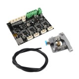 Creality 3D V1.1.5 Silent Mainboard with Upgraded Extruder + MK9 Nozzle + PTEF Tube Kt for Ender-3 Series 3D Printer