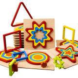 Creative 3D Wooden Puzzle Geometric Shape Jigsaw Puzzle Toy Intelligence Develop Early Educational Toys For Children
