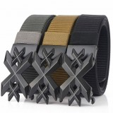 ENNIU 125cm Men Fashion Nylon No Holes Waist Belts Tactical Belt Quick Unlock With Metal Buckle Long Belt