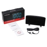 """Digital Alarm Clock for Bedrooms with FM Radio Dual Alarms 6.7"""" LED Screen USB Port for Charging 4 Brightness 12/24H Automatic Dimmer Snooze Digital Clock for Kid Senior"""