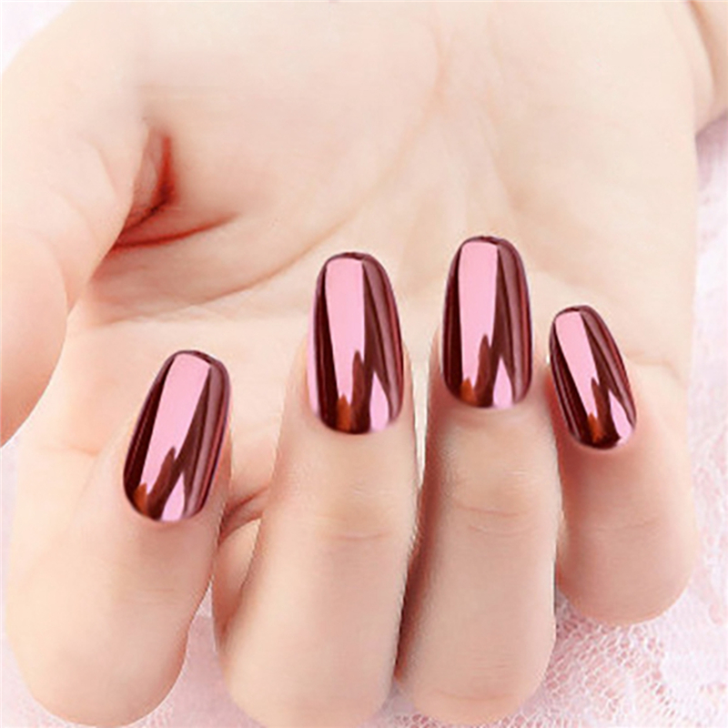 2 Rose Gold Chrome Nail Powder Mirror Effect Nail Pigment Gel Polish Salon Dust for Manicure and Makeup