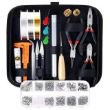 DIY Jewelry Making Supplies Kit With Tools Wires And Jewelry Findings For Jewelry Repair And Beading