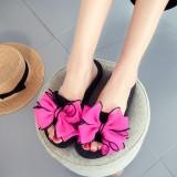Women Flower Decoration Open Toe Casual Summer Beach Slippers