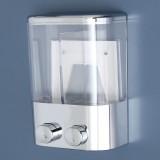 2 pcs 400 ml Wall Mount Push Type Liquid Shampoo Soap Dispenser Shower Gel Container Bathroom Home Kitchen Supplies