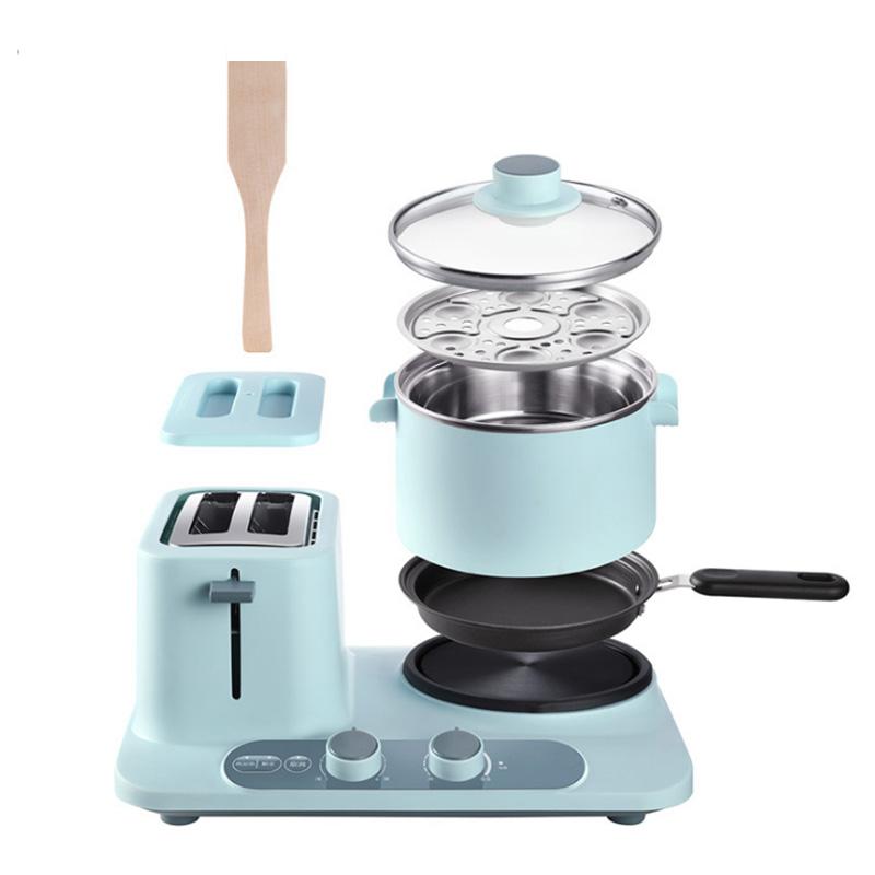 Donlim DL-3405 Multi-function Toaster Breakfast Machine Sandwich Baking Oven Omelette Frying Pan Mini Multicooker Egg Boiler Food Steamer
