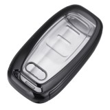 2-IN-1 TPU Car Remote Smart Key Cover Fob with Button Film For Audi A3 A4 A5 A6 A7 A8 Q5 Q7 TT TTs TT RS