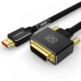 CHOSEAL HDMI To DVI Cable DVI 24+1 Pin Adapter 4K 1080P Bi-directional DVI D Male to HDMI Male Converter Cable HDMI Cable for LCD DVD HDTV