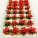 28Pcs Scene Mini Flower Cluster Miniature Model Landscape Sand Table Decorations