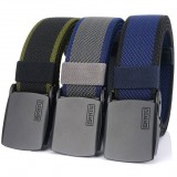 ENNIU 125cm Men Fashion Nylon Waist Belt With Automatic Metal Buckle Quick Unlock Tactical Long Belt