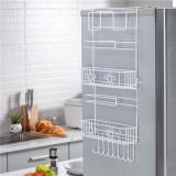 Kitchen Multipurpose Refrigerator Side Storage Rack Side Shelf Organizer