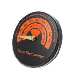 1PC Alloy Magnetic Stove Flue Pipe Thermometer Dropshipping Magnetic Wood Stove Thermometer Fireplace Fan Stove Thermometer BBQ Thermometer