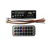 USB Bluetooth Hands-free MP3 Player Integrated MP3 Decoder Board Module Radio FM Remote Control USB FM Aux Audio for Car