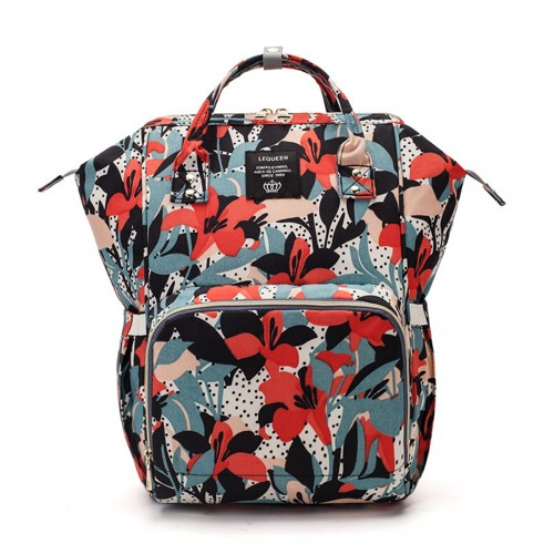 Multifunctional Baby Diaper Bag Nappy Backpack Waterproof Mummy Bag Handbag Vintage Floral Shoulder Bag
