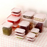 17Pcs Lunch Box Refrigerator Fresh Box Grain Storage Box Microwave Heating Sealed Box Pink/Green