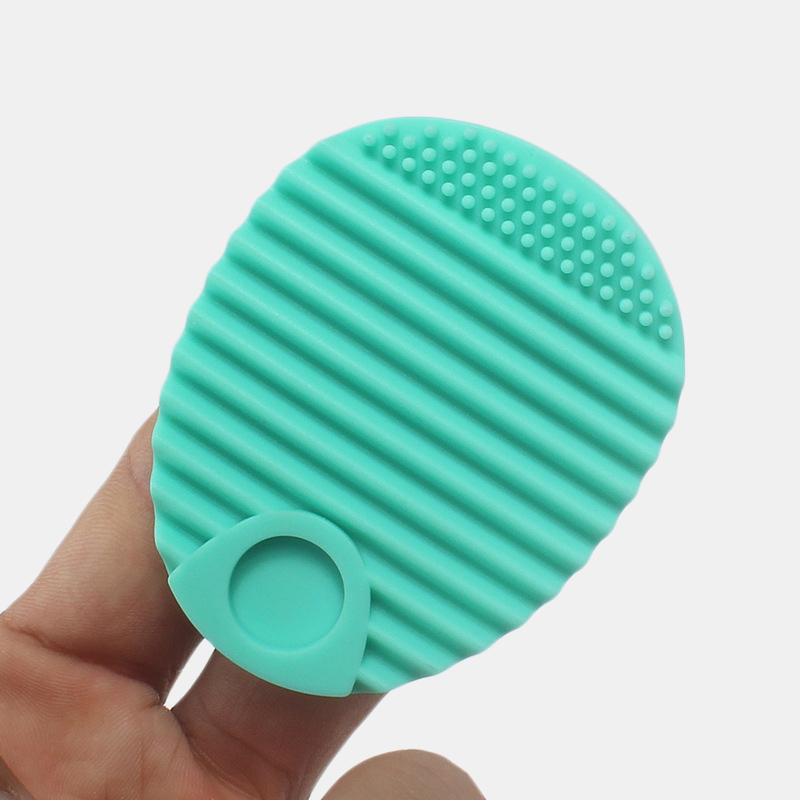 Egg Shape Silicone Brush Cleaning Mat Makeup Brushes Cleaner Glove Scrubber Board Cosmetics Clean Brush Gel Washing Tool
