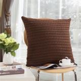 Knit Fiber Pillows Throw Pillow Case Sofa Waist Cushion Cover Home Decorative