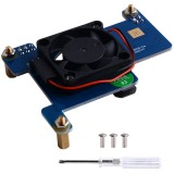 Power Over Ethernet (PoE) HAT Board with 3007 Cooling Fan for Raspberry Pi 4B/3B+