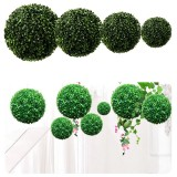 10-30cm Artificial Green Topiary Grass Hanging Ball Plant Home Yard Decorations