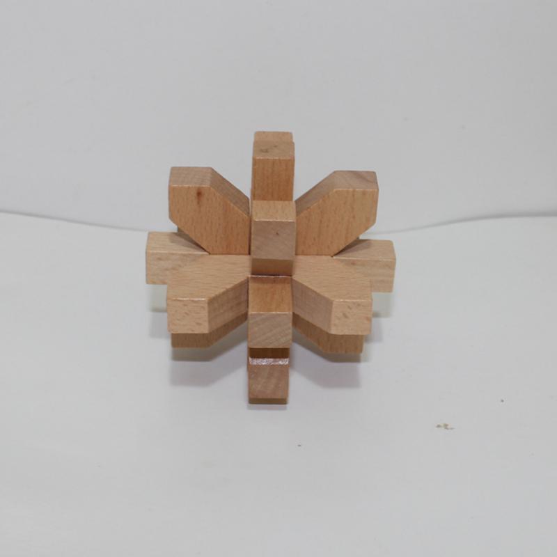 6cm Ball Wooden Children Puzzle Kongming Lock IQ Brain Teaser Jigsaw Puzzle Toy 3D Wooden Interlocking Burr Puzzles Game