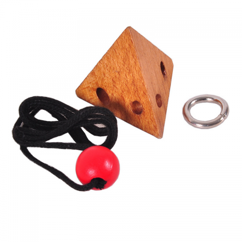 Wooden Puzzle Logic Brain Teaser String Puzzles Game Jigsaw Puzzle Toy Unlock the Rope for Children Stationery Supplies