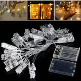 3M 20LED Holder Clip Fairy Sliver Wire String Light Battery Christmas Party Holiday Decor