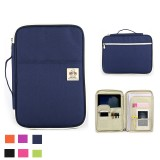 Multifunction Large Capacity A4 File Zipper Bag Zipper Package Conference Briefcase Package Tablet Computer Package Stationery Bag School Supplies Office Supplies