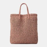 Women Travel Summer Beach Large Capacity Straw Handbag Tote Bag