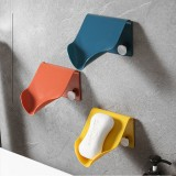 Wall Mounted Soap Dish Drain Storage Box Plastic Self Adhesive Shape Soap Tray Holder Container Bathroom Accessories