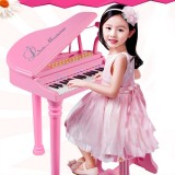 31 Keys Children Kids Electronic Keyboard Electronic Piano Microphone Stool Musical Gifts