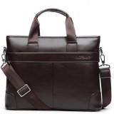 Men Leather Durable Briefcase Bag Waterproof Business Shoulder Messenger Satchel Laptop Handbag