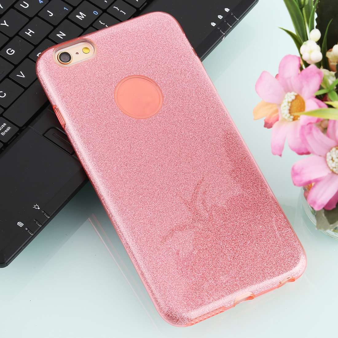 For IPhone 6 Plus TPU Glitter All-inclusive Protective