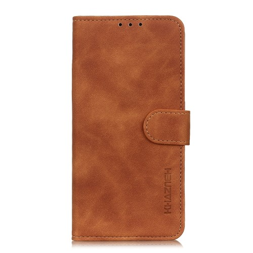 For LG K61 Retro Texture PU + TPU Horizontal Flip Leather Case with Holder & Card Slots & Wallet (Brown)