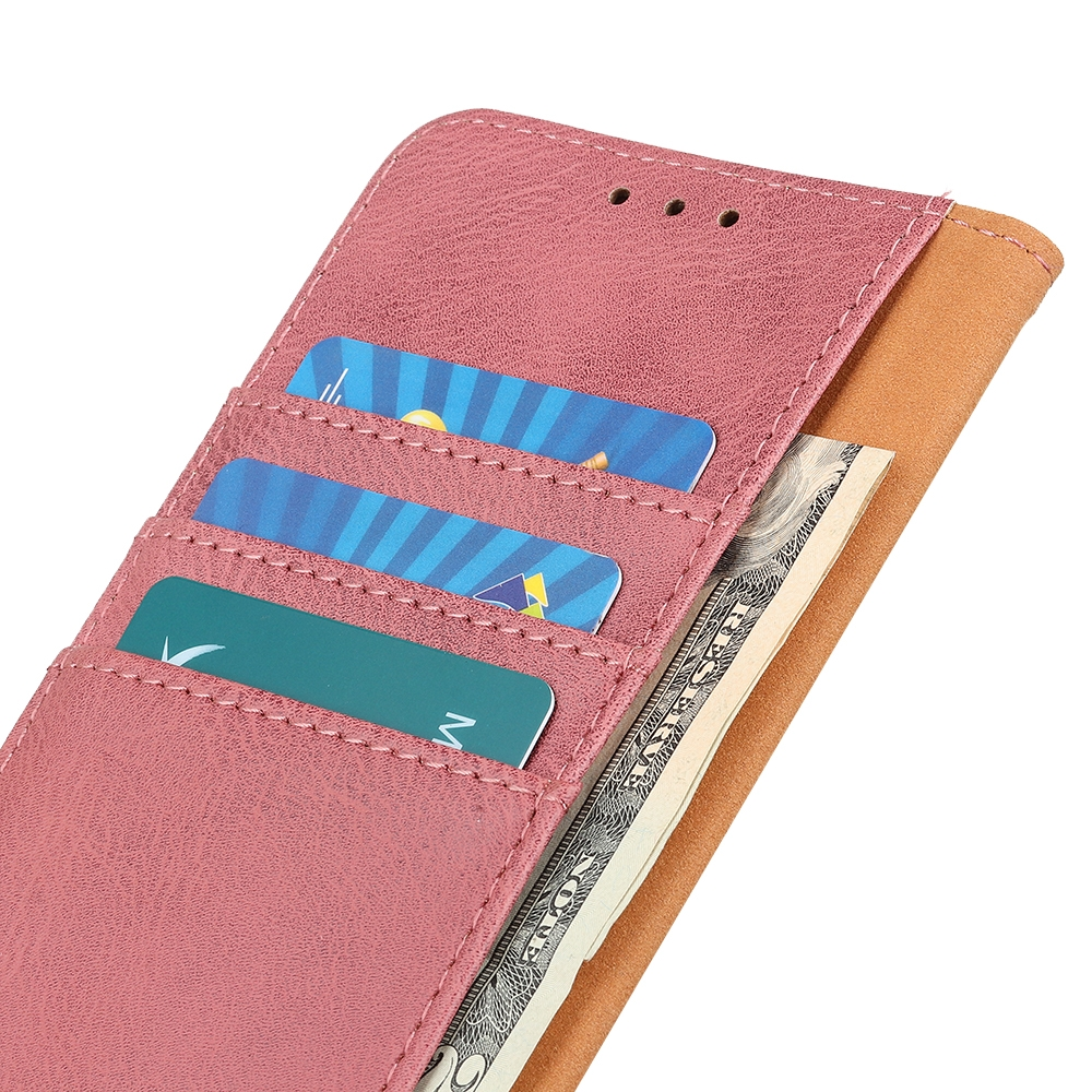 For LG K61 Cowhide Texture Horizontal Flip Leather Case with Holder & Card Slots & Wallet (Pink)