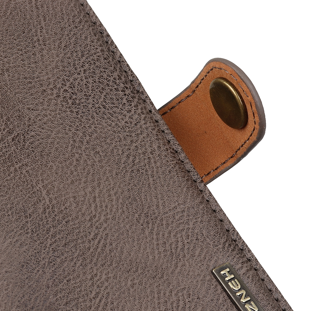 For LG K61 Cowhide Texture Horizontal Flip Leather Case with Holder & Card Slots & Wallet (Khaki)