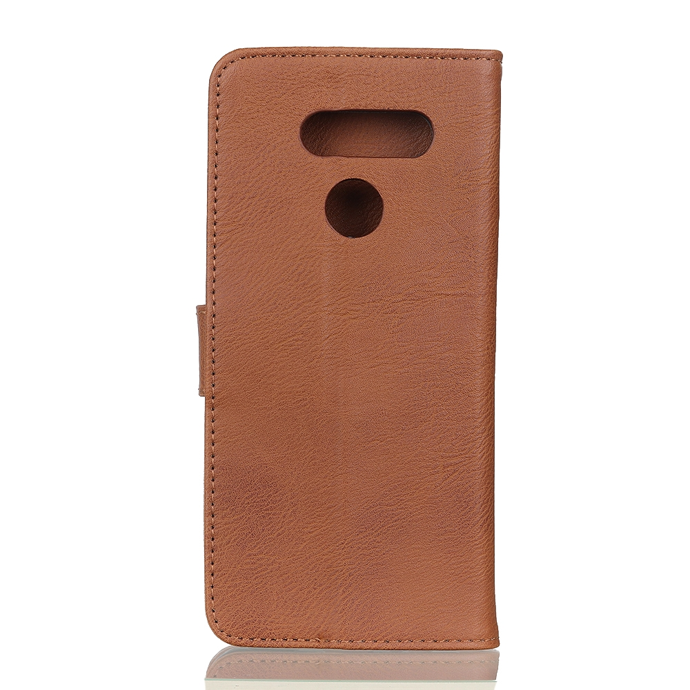 For LG K61 Cowhide Texture Horizontal Flip Leather Case with Holder & Card Slots & Wallet (Brown)