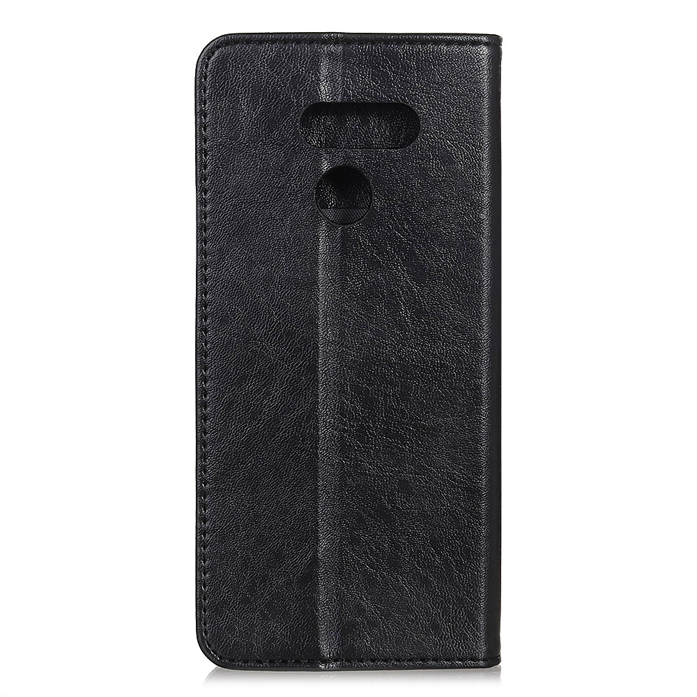 For LG K61 Magnetic Crazy Horse Texture Horizontal Flip Leather Case with Holder & Card Slots & Wallet (Black)
