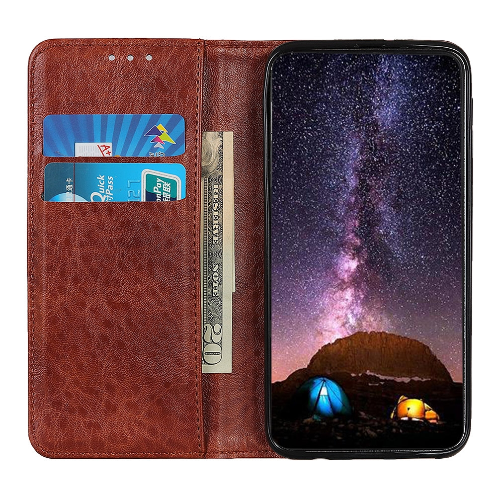 For LG K61 Magnetic Crazy Horse Texture Horizontal Flip Leather Case with Holder & Card Slots & Wallet (Brown)