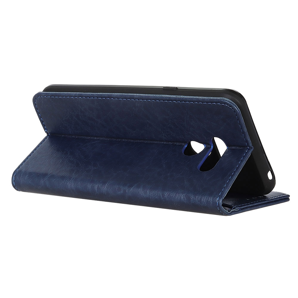 For LG K61 Magnetic Crazy Horse Texture Horizontal Flip Leather Case with Holder & Card Slots & Wallet (Blue)