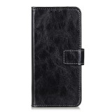 For LG K61 Retro Crazy Horse Texture Horizontal Flip Leather Case with Holder & Card Slots & Photo Frame & Wallet (Black)