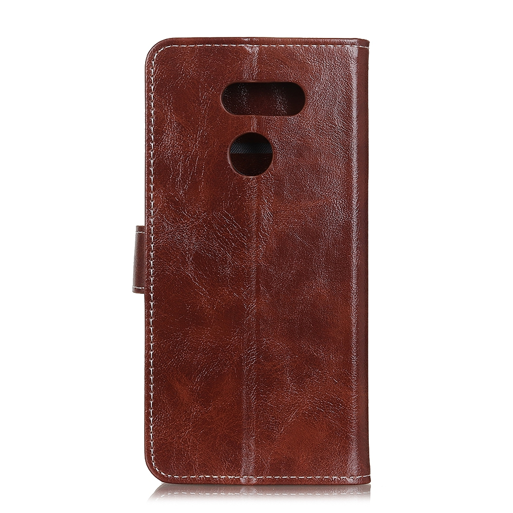 For LG K61 Retro Crazy Horse Texture Horizontal Flip Leather Case with Holder & Card Slots & Photo Frame & Wallet (Brown)