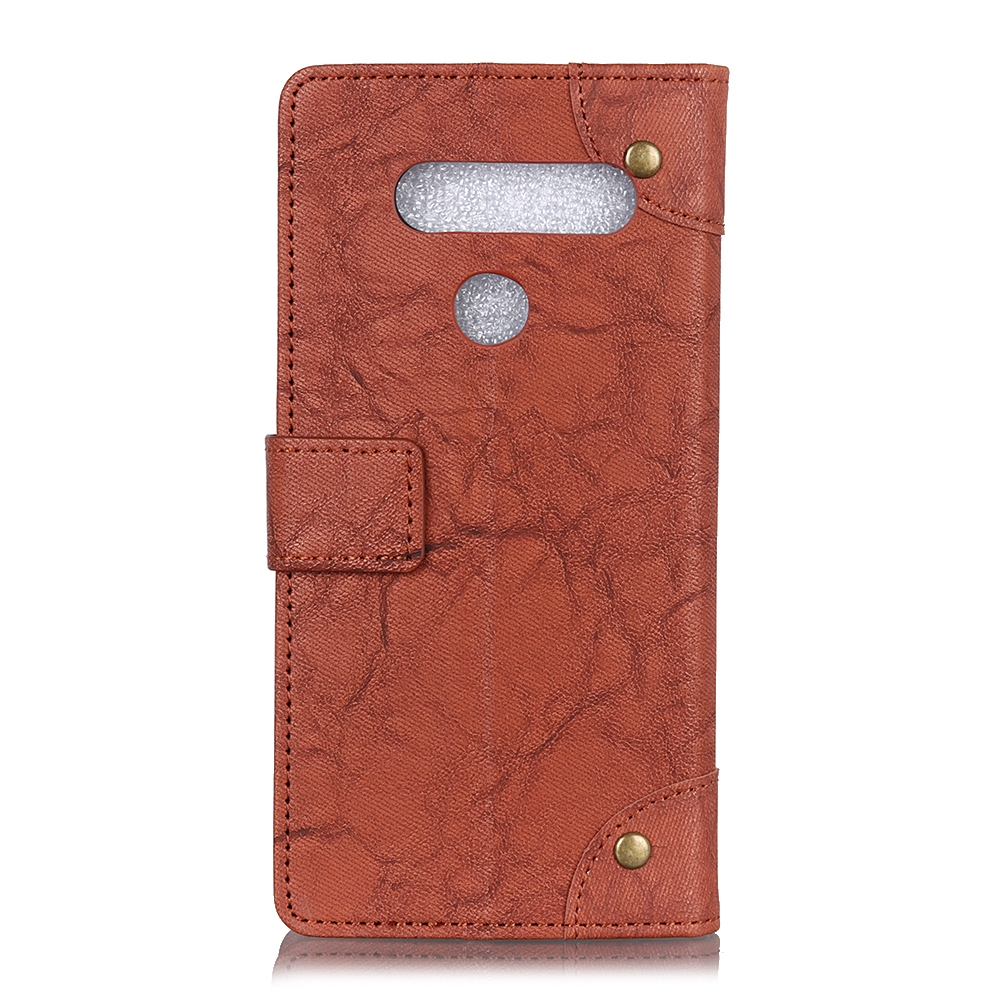 For LG K61 Copper Buckle Retro Crazy Horse Texture Horizontal Flip Leather Case with Holder & Card Slots & Wallet (Brown)