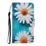 For Galaxy A21 Colored Drawing Horizontal Flip Leather Case with Holder & Card Slot & Wallet (Chrysanthemum)