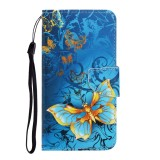 For Galaxy A41 Colored Drawing Horizontal Flip Leather Case with Holder & Card Slot & Wallet (Jade Butterfly)