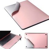 For MacBook Pro 15.4 inch A1707 / A1990 (2016) (with Touch Bar) 4 in 1 Upper Cover Film + Bottom Cover Film + Full-support Film + Touchpad Film Laptop Body Protective Film Sticker (Rose Gold)