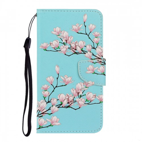 For LG K61 Colored Drawing Horizontal Flip Leather Case with Holder & Card Slot & Wallet (Chrysanthemum)