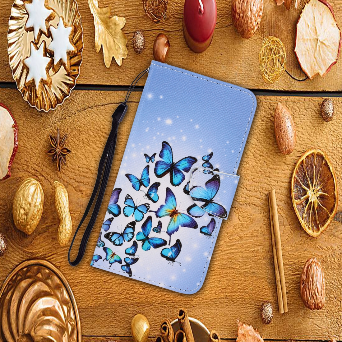 For LG K61 Colored Drawing Horizontal Flip Leather Case with Holder & Card Slot & Wallet (Many Butterflies)